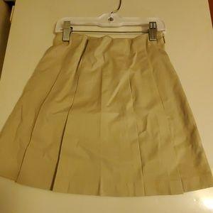 Gymboree khaki uniform skirt